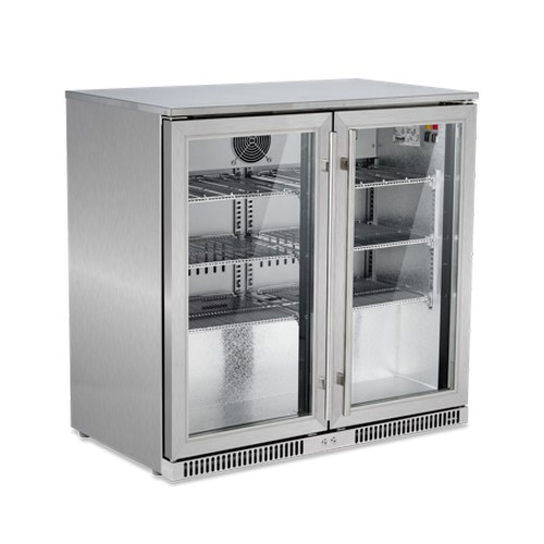 FRIDGE SNOMASTER TWO DOOR 220L STAINLESS STEEL – SD200SS