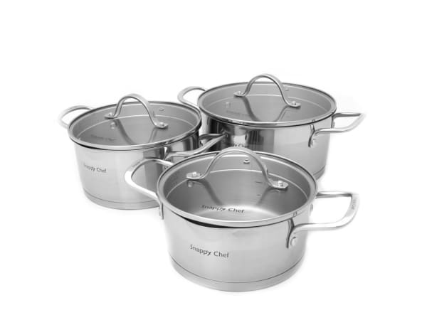 COOKWARE SNAPPY CHEF SIX PIECE – SSCS005
